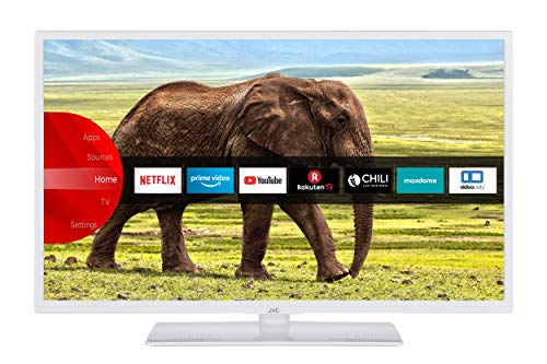 JVC LT-32VH5955W 32 Zoll Fernseher (Smart TV inkl. Prime Video / Netflix / YouTube, HD ready, Bluetooth, Works with Alexa, Triple-Tuner) [Modelljahr 2021]