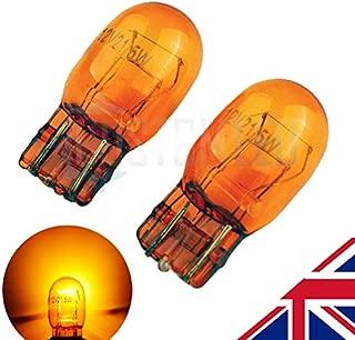 2x DRL Sidelight Turn Signal Corner Indicator Brake Stop Tail Light Bulbs 580 7443 W21//5W T20 Clear Glass 3800K Dual Filament MSA