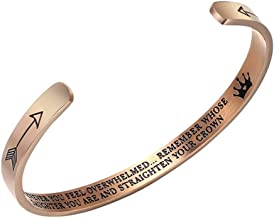 KEPKGO Inspirational Cuff Bracelets Gifts for Daughter, for Mom Granddaughter Women Girls Gift