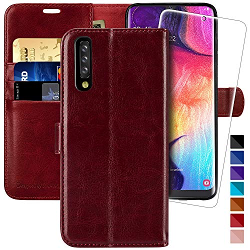 Galaxy A50 / A50s / A30s Wallet Case,6.4 inch,MONASAY [Included Screen Protector] Flip Folio Leather Cell Phone Cover with Credit Card Holder for Samsung Galaxy A50 / A50s / A30s