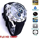 Full HD 1080P Hidden Spy Camera Waterproof Watch Mini DV Recorder with Infrared