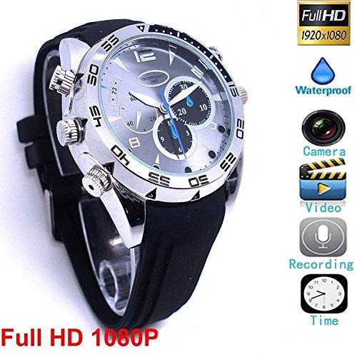 HD Mini DV 1080P Hebilla de la Pulsera del deporte Cámara Espía Recargable Protable reloj pulsera Videocámara de vigilancia con la Función de vibrar@Laing (W5000)