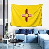 N\A Tapiz de Arte 3D, Tapiz Vertical con patrón de Bandera Mundial, Tapiz de decoración de Dormitorio de Sala de Estar de Bandera de Nuevo México, colchón, Mantel