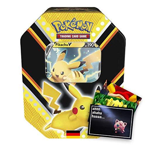 Lively Moments Pokemon Karten Tin Box Schwert und Schild Pikachu V (# 88) DE + Exklusive GRATIS Grußkarte
