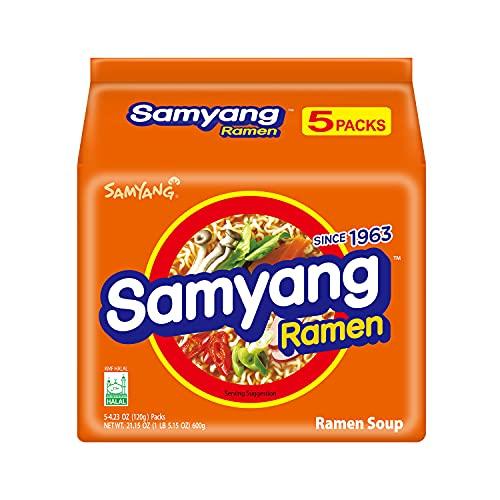 Samyang Ramen Korean Noodle Soup, 4.23 oz (Pack of...