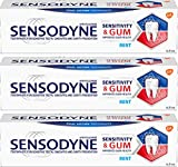 Set of 3 Tubes of Mint Sensitive Mouth Toothpaste - Can Help Improve Gum Health and Relieve Tooth Sensitivity (0.8 oz Tubes)