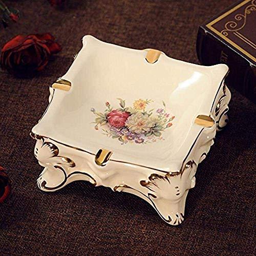 Cenicero KEWEI de cerámica de encaje de lujo sala de estar mesa de café vintage jardín boda regalo