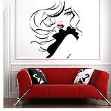 Pin Up Girl Women Modern Hair Salon Wall Sticker Decal Mural Transfer 57x63cm...