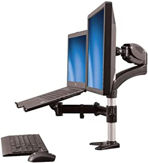 StarTech.com Laptop Monitor Stand - Computer Monitor Stand - Full Motion Articulating - VESA Mount Monitor Desk Mount