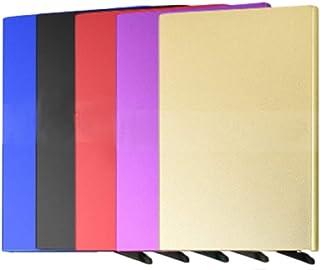 BOCURA Pop Up Wallet Credit Card Holder Metal Card Case RFID Blocking Slim Front Pocket Minimalist for Men and Women