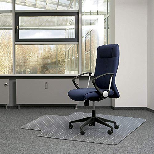 Kuyal Office Chair Mat for Carpets,Transparent Thick and Sturdy Highly Premium Quality Floor Mats for Low, Standard and No Pile Carpeted Floors, with Studs (30' X 48' with Lip)