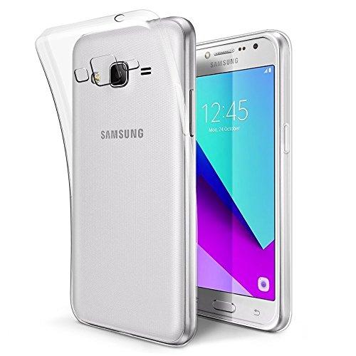 REY Funda Carcasa Gel Transparente para Samsung Galaxy Grand Prime 2016 / J2 Prime/Grand Prime Plus, Ultra Fina 0,33mm, Silicona TPU de Alta Resistencia y Flexibilidad