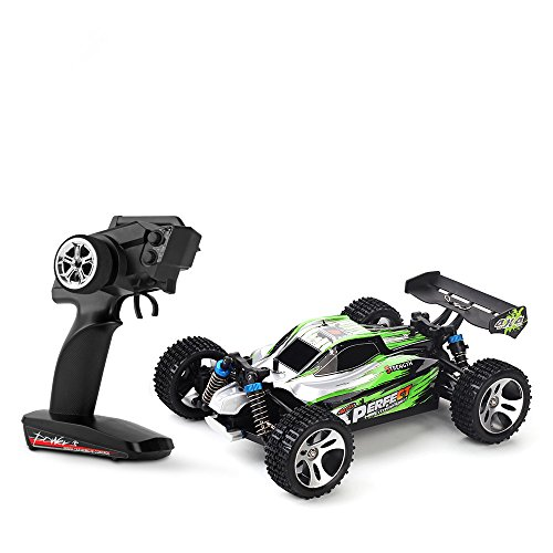 RC Buggy kaufen Buggy Bild 1: s-idee® 18130 A959-A RC Auto Buggy Monstertruck 1:18 mit 2,4 GHz 35 km/h schnell, wendig, voll digital proportional 4x4 Allrad WL Toys ferngesteuertes Buggy Racing Auto*