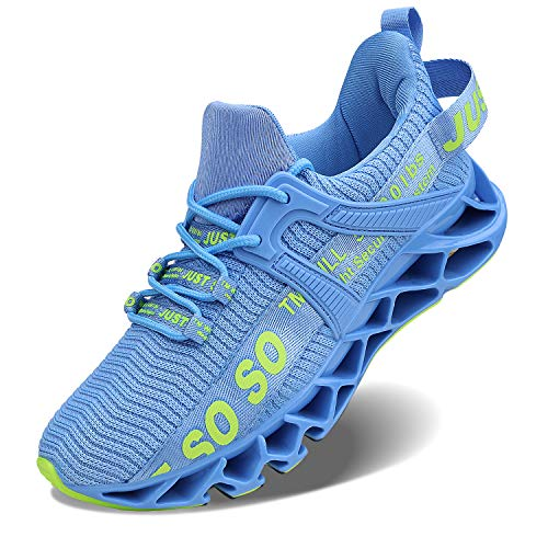 Vivay Damen Road Running Sneakers Fashion Sport Workout Gym Jogging Wanderschuhe, Blau , 41 EU