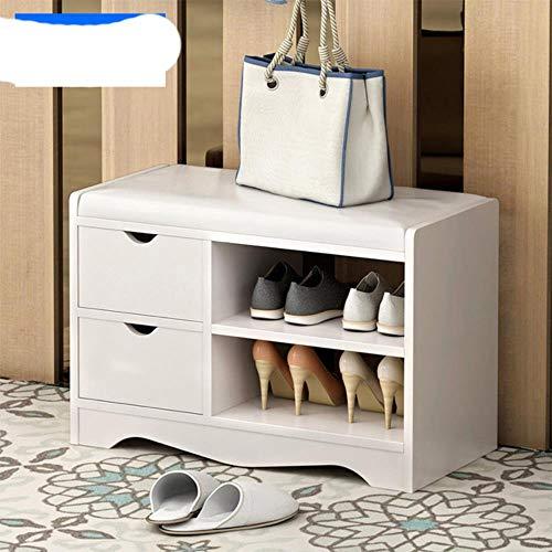 re para zapatos taburete simple moderno almacenamiento taburete zapatos taburete taburete multifuncional almacenamiento taburete sofá taburete zapatos gabinete taburete-60 cm doble cajón