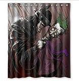 ZHANGSHUQI Neuer Duschvorhang Batman, der lacht Bad Duschvorhang strapazierfähiges Stoffzubehör kreativ mit 12 Haken 180X180CM