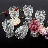 Happy Penguin® Pineapple Shaped Juice Glasses Drinking Glass Set of 6 Pcs I 190 ML
