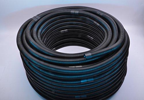 Pool-Profi24 3m Pool-Schlauch 38mm Durchmesser | Schwimmbadschlauch UV-beständig und teilbar (Schwarz)