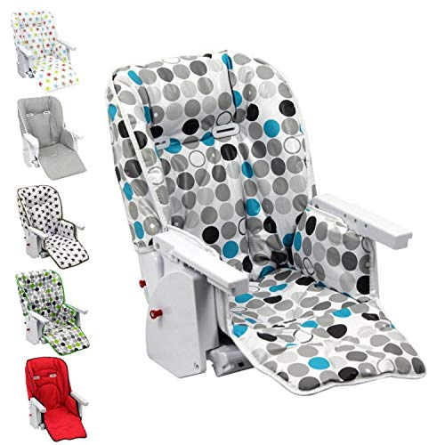 Monsieur Bébé ® Housse d'assise pour chaise haute enfant gamme Ptit - 6 coloris - Norme NF EN14988
