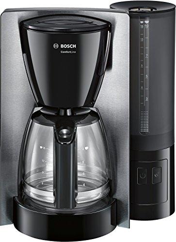 Bosch TKA6A643 ComfortLine Filterkaffeemaschine, Aroma+, Aromaschutz-Glaskanne, Auto-Off wählbar, abnehmbarer Wassertank, 1200 W, Edelstahl