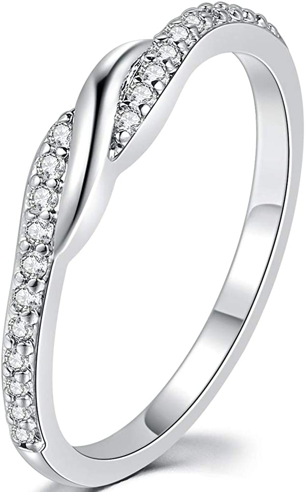 2mm Thin Cubic Zircon Regular store Stone Statement S Wedding Quality inspection Promise Eternity