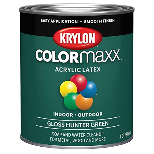 Krylon KDQ5642 COLORmaxx Acrylic Latex Brush On Paint for Indoor/Outdoor Use, 32...
