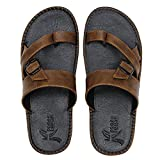 Kraasa Men's Synthetic Outdoor Thong Sandals (Size: 8, Color: Black)