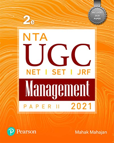 NTA UGC(NET/SET/JRF) Paper 2- Management   2021   Second Edition   By Pearson