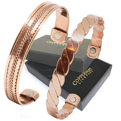 Cheap Copper Bracelets for Arthritis - Therapy Magnetic Bracelets for Men and Women with 2 Powerful ...