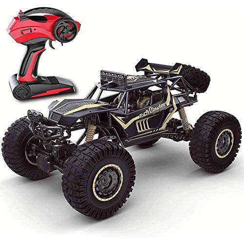 Remote Control Car, Niños Control Remoto Coche RC Coche 4x4 Big Pie Off Road Vehículo 4WD Fast Speed Racing Cars Dune Control Remoto Monster Truck 2.4GHz Recargable Hobby RC Buggy Toy Boy Girls Vaca