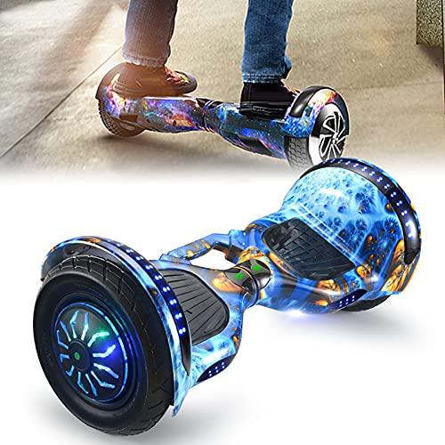 RENSHUYU Tablero de Scooter eléctrico de 9 Pulgadas con Bluetooth, con luz LED de conversión de Tres Colores, Bluetooth, hoverboards para niños y Adolescentes y Adultos