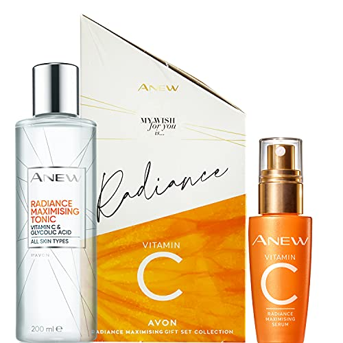 Avon Anew Radiance Maximising Set Collection - Suero y tonificante de vitamina C con reactivador de juventud