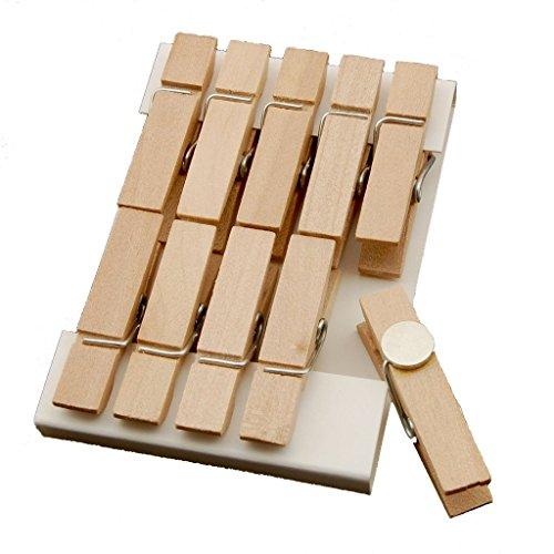 Summer-Ray 50 Natural Mini Wooden Clothespin Fridge Magnet