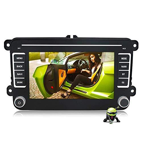 Navigatore satellitare, schermo antideflagrante 2.5D, lettore multimediale da 7 pollici 2 din Navigazione GPS per auto DVD per VW Volkswagen, aggiornamento mappe gratuito a vita, navigatore per camio