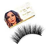 MARIAN HANNA 5D Real Mink Lashes Strip   100% Handmade   Cruelty Free   25-30 Times Reusable False Eyelashes   Wispy Eye   Dramatic   Soft   Lash Boost   Fluffy Long (Aswan)
