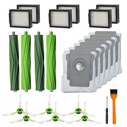 SDFIOSDOI Piezas de aspiradora 24 Paquete De Piezas De Repuesto For El Ajuste For IRobot Roomba I7 I7 + / I7 Plus E5 E6 S9Vacuum Accesorios For Aspiradoras