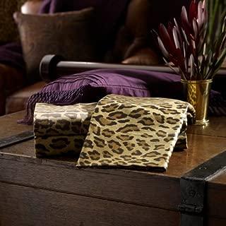 Lauren by Ralph Lauren New Bohemian Leopard Queen Flat Sheet - Aragon