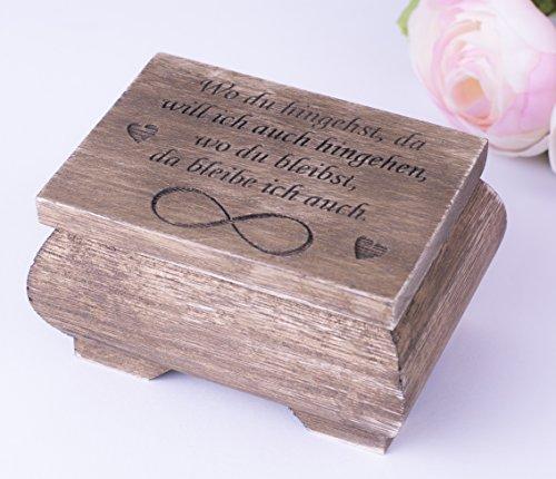 Happy Wedding Art Ring-Box Ring-Schatulle Ring-Kästchen Ring-Kissen Eheringe Hochzeit Zeremonie