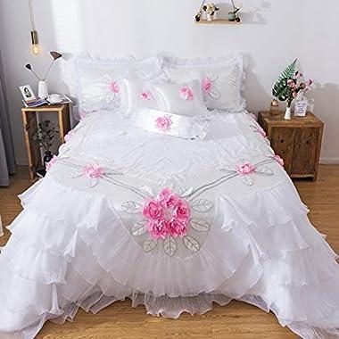 Tache Home Fashion Delicate Rose 6 Piece Floral...