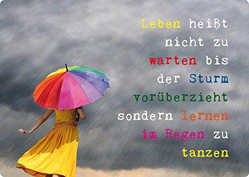 Magnet. Leben Heißt Nicht Zu Warten Bis Der Sturm Vorüberzieht, Sondern Lernen Im Regen Zu Tanzen. Vpe 3