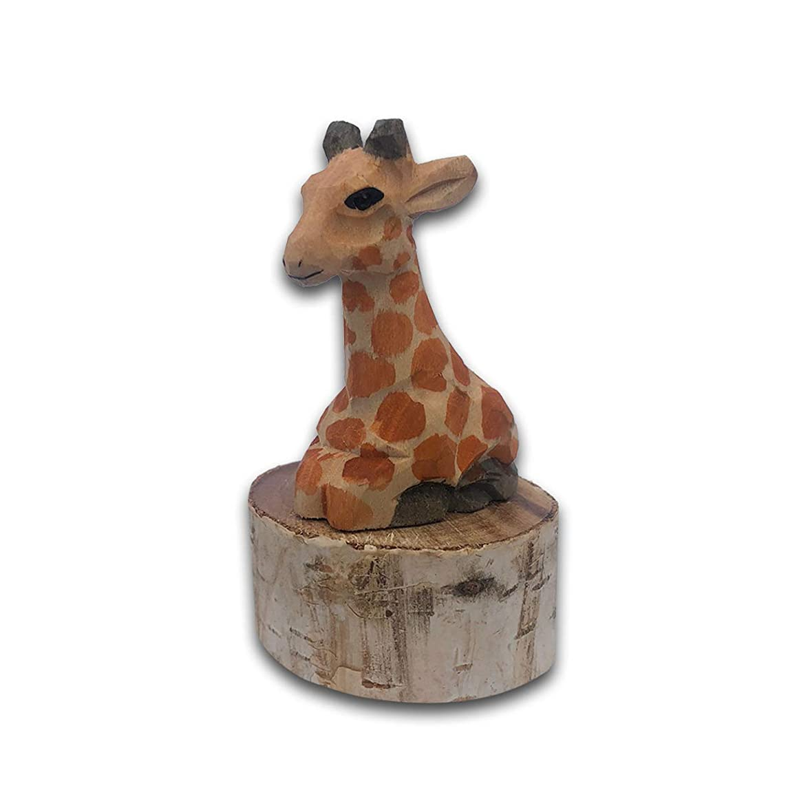 BYLA Manual Mechanical Sharpeners, for Kids & Colored Pencils, 1-Pack, Wooden animal shape pencil sharpener, handmade - Giraffe