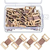 Elastic Bandage Clips Bandage Wrap Clips Stretch Metal Clips with Plastic Storage Box Replaceable Wrap Clips for Various Types Bandages (50 Pieces)
