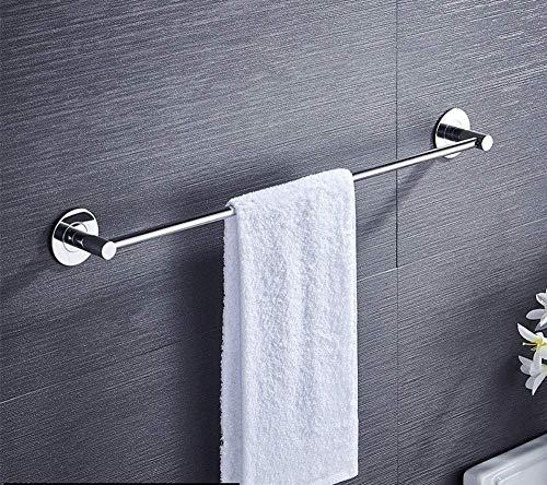 DXX-HR BEIEU - Estante de baño de acero inoxidable 304 sin punzones, toallero de barra individual, barra individual, 50 cm
