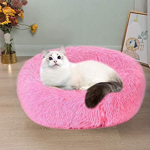Wuudi, cuccia per cani, cuccia per gatti, 50 cm, rotonda, per cani e gatti, cuccia per cani di piccola taglia (rosa)