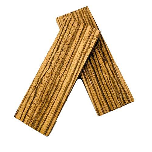 Aibote 1 Paar Natürliches Zebraholz Messergriffwaagen Holzgriffe Materialplattenmesser Benutzerdefinierte DIY-Werkzeuge für die Schmuckherstellung leeren Klingen (120X40X8mm)