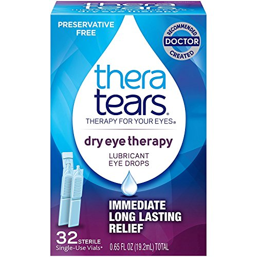 TheraTears Dry Eye Therapy- Lubricant Eye Drops- Preservative Free provides immediate, long lasting relief of dry eye symptoms Restores Eyes Natural Balance Unique hypotonic and electrolyte balanced formula replicates healthy tears Preservative free ...