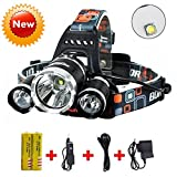 Brightest and Best LED Headlamp 10000 Lumen flashlight - IMPROVED LED,...