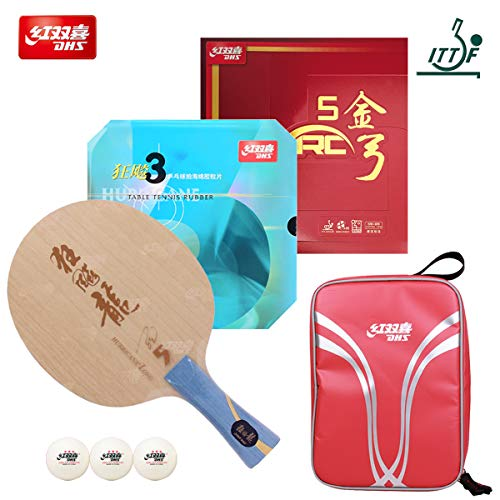 Great Deal! DHS Hand Assembled Professional Table Tennis Racket - Professional Ping Pong Racket Comb...