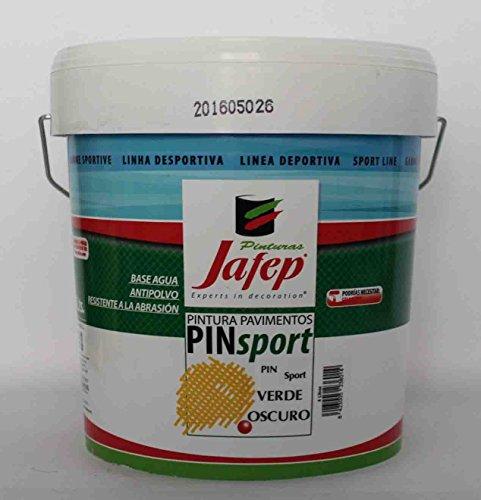 PIN SPORT Pintura Pavimentos para Pistas Deportivas Verde Oscuro 4L de JAFEP