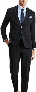 Fauokaverスーツメンズ 上下セット 一つボタン セットアップ ビジネススーツ スリム 着心地良い 礼服 結婚式 就職スーツ オールシーズン シンプルデザイン 上下セット 無地 パーティー スーツ